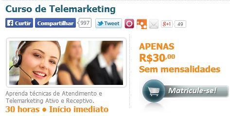 curso de telemarketing premium