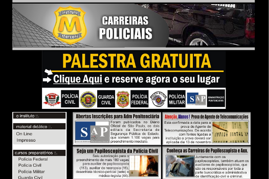 O Instituto Marconi prepara os brasileiros para concursos públicos. (Foto: Divulgação)
