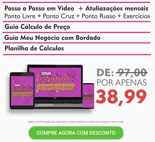 CURSO DE BORDADO PASSO A PASSO