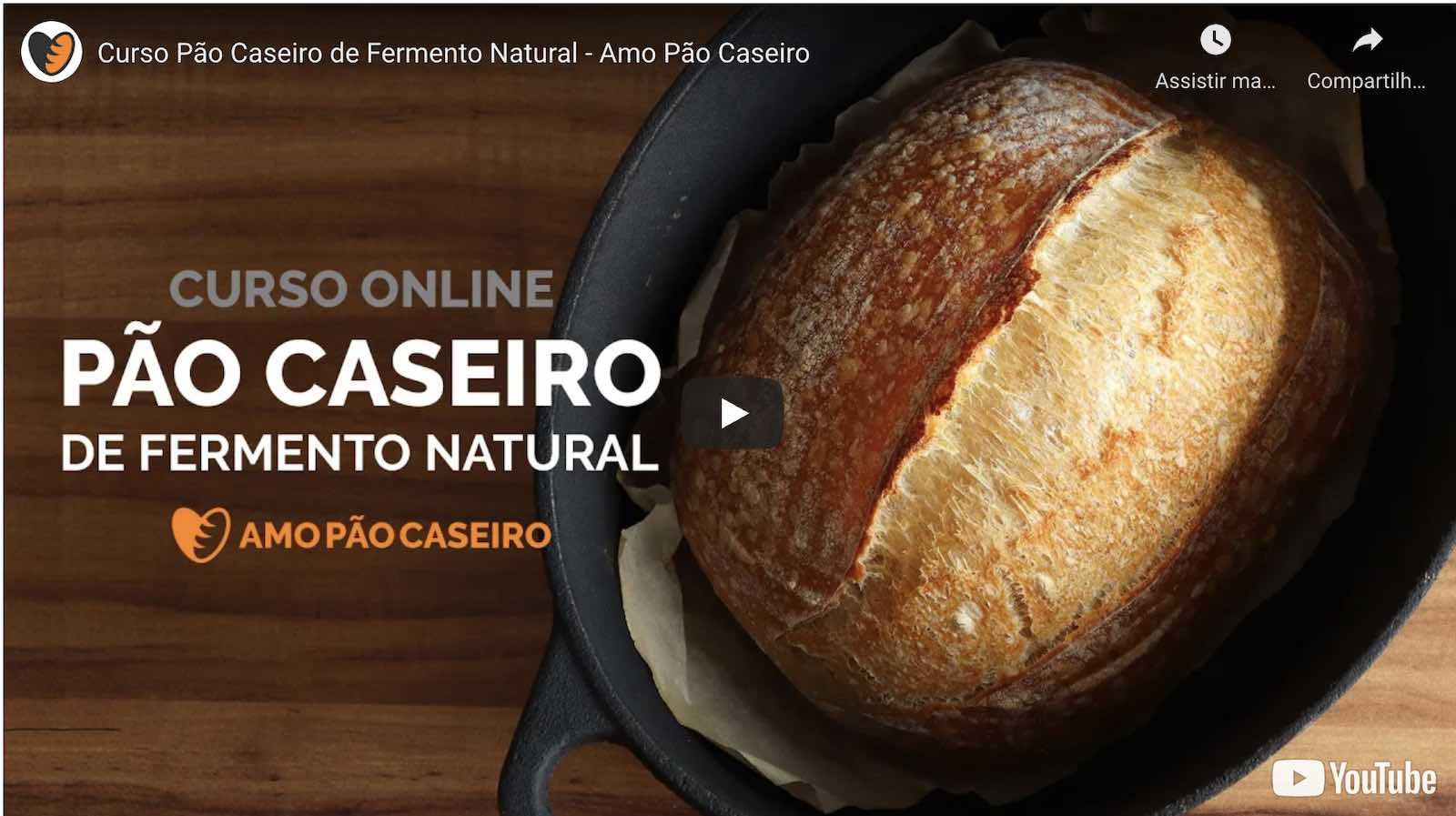 curso pao caseiro de fermentacao natural